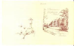 1930 BADEN BADEN (D) Hotel BRENNER'S STEPHANIE Menu Ill. Ivo PUHONNY