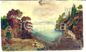 1930 ABBAZIA / OPATIJA (Croazia) Veduta del golfo con rovine *Acquerello