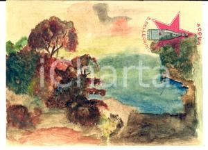 1930 ABBAZIA / OPATIJA Veduta del golfo *Acquerello Acqua SAN PELLEGRINO