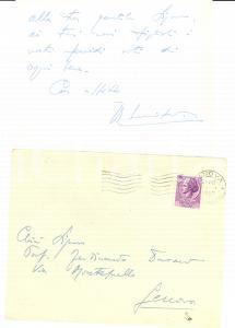1957 ROMA Auguri Roberto LUCIFREDI a Ferdinando DURAND *Autografo