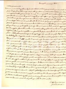 1855 NAPOLI Affari all'AQUILA per don Luigi DE PASCALE *Prefilatelica