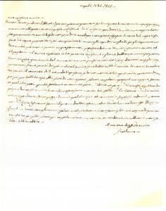 1855 NAPOLI L'amico Girolamo supplica don Luigi DE PASCALE *Prefilatelica