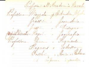 1880 ca LIVORNO Professori in servizio presso la REGIA ACCADEMIA NAVALE