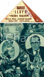 1938 IL PRODE FARAONE Professor Beware Harold LLOYD Phyllis WELCH *Volantino