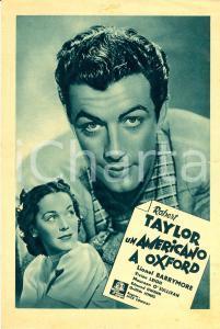 1938 AMERICANO A OXFORD Yank at Oxford Robert TAYLOR Vivien LEIGH *Volantino
