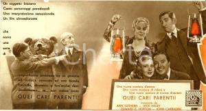 1937 QUEI CARI PARENTI Ann SOTHERN Jack HALEY Movie by Otto PREMINGER *Volantino