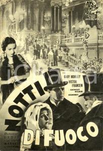 1937 NOTTI DI FUOCO Nuits de feu Gaby MORLAY Victor FRANCEN Movie *Volantino