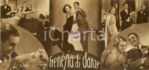 1936 FRENESIA DI DANZE Dancing feet Ben LYON Joan MARSH Movie *Volantino