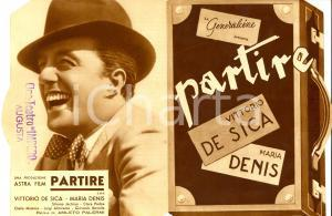 1938 PARTIRE Vittorio DE SICA Maria DENIS Produzione GENERALCINE *Volantino