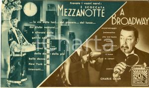 1937 MEZZANOTTE A BROADWAY Charlie Chan on Broadway Warner OLAND Movie Volantino