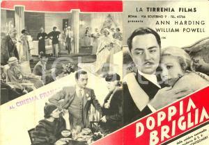 1933 A DOPPIA BRIGLIA Double harness Ann HARDING William POWELL Movie *Volantino