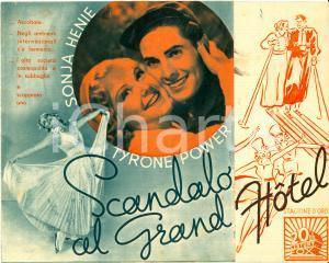 1937 SCANDALO AL GRAND HOTEL Thin ice Sonja HENIE Tyrone POWER Movie *Volantino