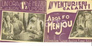 1932 AVVENTURIERI GALANTI Diamond cut diamond Adolphe MENJOU Cinema *Volantino