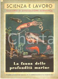 1954 Enrico TORTONESE La fauna delle profondità marine di SCIENZA E LAVORO