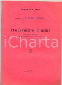 1933 COMUNE SAN GIORGIO LOMELLINA (PV) Regolamento igiene *Libretto