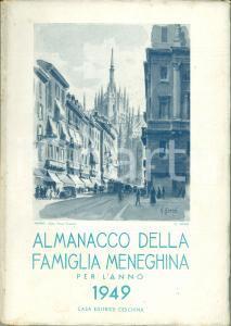 1949 MILANO Almanacco Famiglia Meneghina Ripresa pubblicazioni dopo guerra