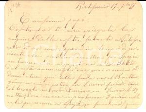 1887 PORTOFERRAIO Nessuna licenza per allievi REGIA MARINA in province infette