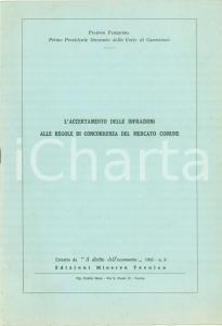 1962 Filippo PASQUERA Accertamento infrazioni concorrenza mercato comune
