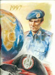 1997 ARMA CARABINIERI Calendario illustrato per centenario Missione a CRETA