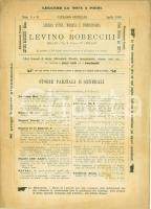 1889 MILANO Catalogo Libreria Levino ROBECCHI 5-6 Storie generali