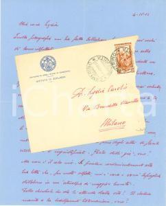 1952 CAMERINO (MC) Giampaolo MORETTI Lydia CAROSIO donna ideale AUTOGRAFO
