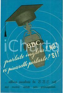 1950 BBC Corso radiofonico di inglese LISTEN AND SPEAK *Opuscolo