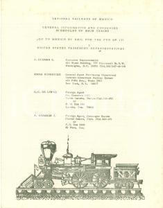 1979 NATIONAL RAILWAYS OF MEXICO Treni tratte servizi *Opuscolo