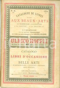 1884 MILANO Catalogo HOEPLI N. 16 Libri d'occasione di belle arti