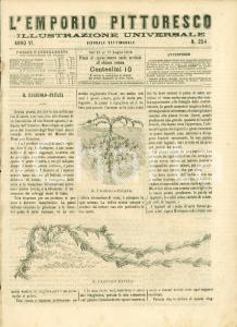 1869 L'EMPORIO PITTORESCO Natura del fagiolo patata ILLUSTRATO
