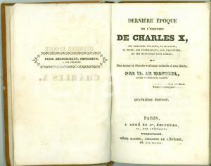 1840 Guillaume Isidore DE MONTBEL Dernière époque CHARLES X Quarta edizione