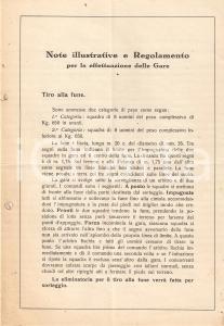 1928 BRESCIA Campionati provinciali DOPOLAVORO ATLETICA LEGGERA Regole
