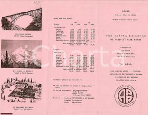 1979 ANCHORAGE Compagnia ferroviaria ALASKA Mt MCKINLEY
