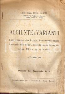 1942 GUIDA AMMINISTRATIVA militare agenda LUIGI DANESI