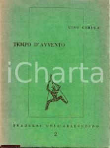 1953 TEMPO D'AVVENTO Raccolta di poesie Gino GEROLA