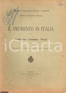 1914 FRUMENTO IN ITALIA Ministero Agricoltura GRAFICI