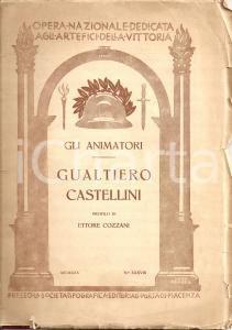 1925 ETTORE COZZANI Profilo Gualtiero CASTELLINI