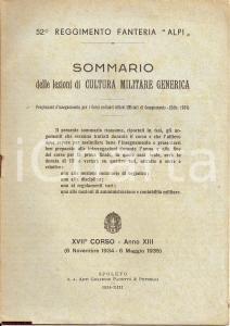 1934 52° REGGIMENTO FANTERIA