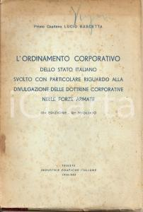 1935 LUCIO BASCETTA Dottrine corporative forze armate