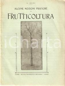 1918 Giglio BONI NOZIONI DI FRUTTICOLTURA Inserto AGRICOLTURA SUBALPINA Libretto