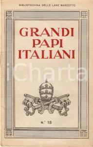 1934 BIBLIOTECHINA LANE MARZOTTO Grandi Papi italiani *ILLUSTRATO