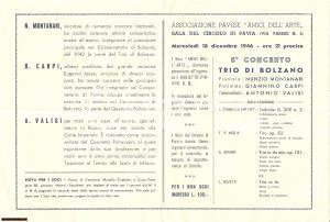 1946 PAVIA Concerto Associazione AMICI DELL'ARTE