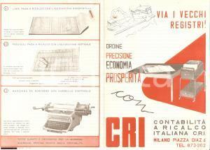 1950 circa MILANO DIAZ Contabilità ricalco italiana CRI