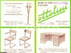 1950 ca. BUSTO ARSIZIO Catalogo mobili acciaio OTTOLINI