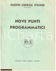 1951 BOLOGNA PLI Nove punti programmatici Libretto