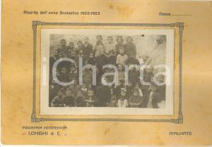 1923 MALNATE (VA) Foto di gruppo Scuola Elementare RARA