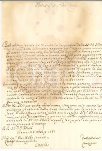 1781 ROMA Lorenzo CORINTI contro la violenza della curia vescovile *Lettera