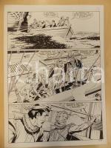 1996 CRONONAUTI 5 Luciano BERNASCONI Marinai caricano cannoni *Tavola originale