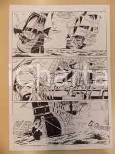 1996 CRONONAUTI 5 Luciano BERNASCONI Cannonate tra velieri *Tavola originale