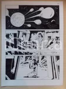 2001 L'AUTRE Luciano BERNASCONI Meteoriti distruggono la Terra *Tavola originale