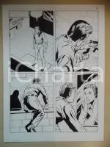 2001 L'AUTRE Luciano BERNASCONI Uomo entra in vasca da bagno *Tavola originale